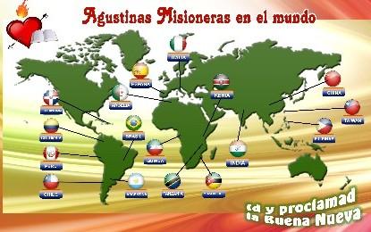 Agustinas Misioneras en el mundo
